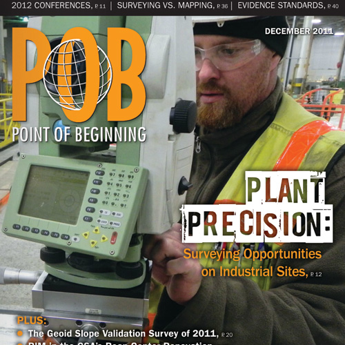 Point of Beginning - December 2011 Cover